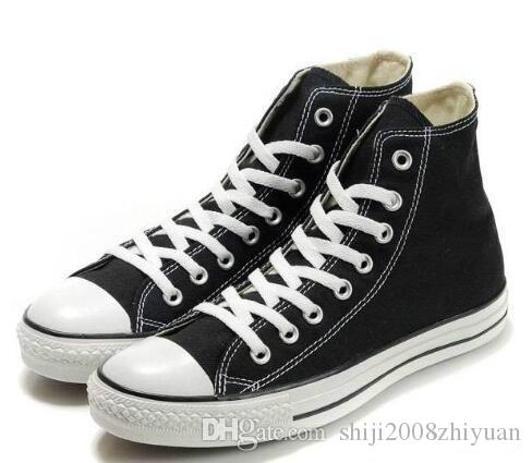 Commercio all'ingrosso - 2017 Trasporto di goccia New Unisex High-Top per adulti uomini donne scarpe di tela 13 colori allacciati scarpe casual