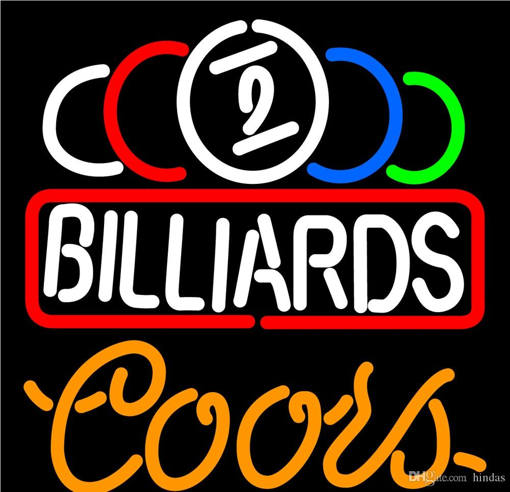 Coors Neon Ball Billiard Text Pool Neon Sign 16x16