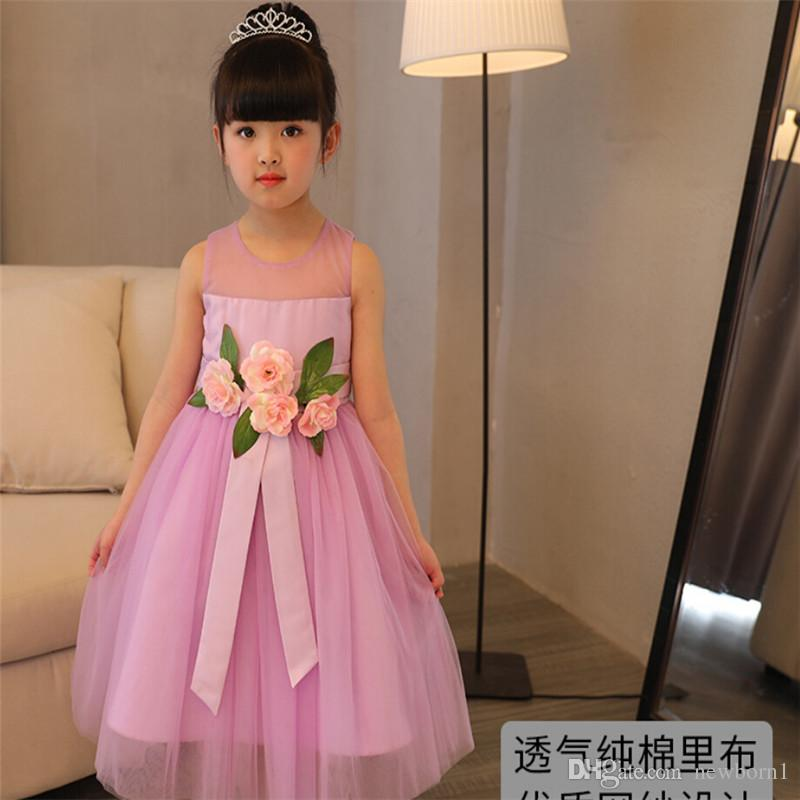 2018 Children\'S Girl Clothes Fashion Korean Style Flowers Ball Gown ...