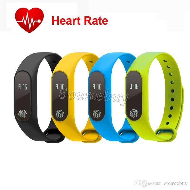 M2 Smart Armband Pulsmesser OLED Bildschirm Smart Band Schlaf Fitness Tracker Wasserdichtes IP67 Smart Armband für Android iOS Handy