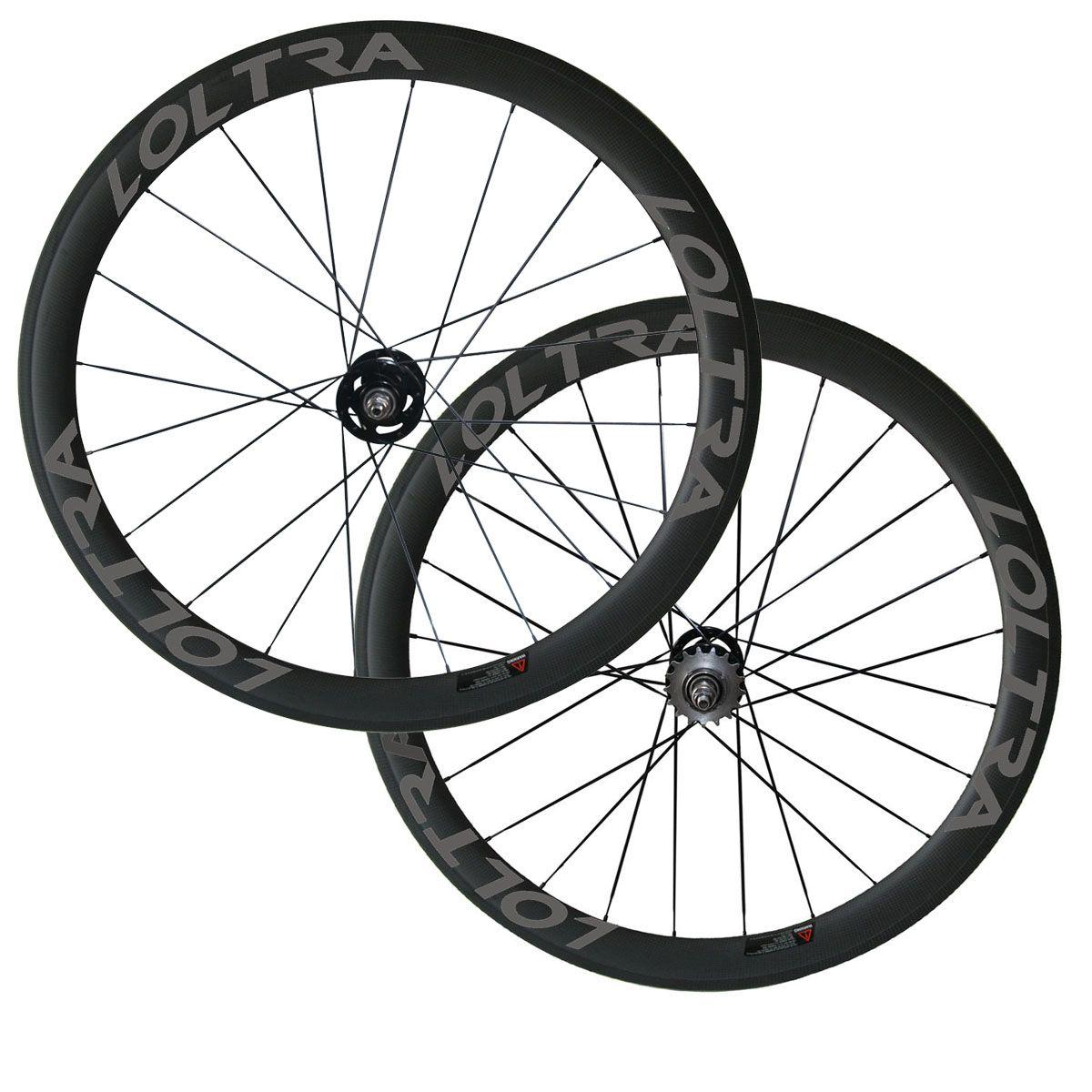 Free Shipping 50mm Clincher/Tubular R=Track Bike Wheelset LOLTRA White Decal Fix Gear Wheels A165SB/A166SB Track Bicycle