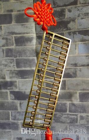 Ábaco de bronze aberto Decoração Sorte mal derrame Xie financeira traços vilão elegante feng shui bronze ornamentos