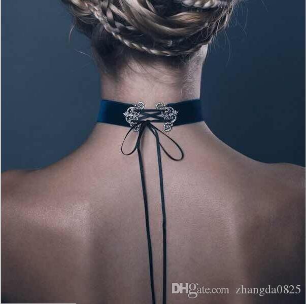 Trasporto libero! nuovi accessori moda di marca del progettista delle donne quattro colori flanella nastro signore vestito da sposa all'ingrosso collana girocollo