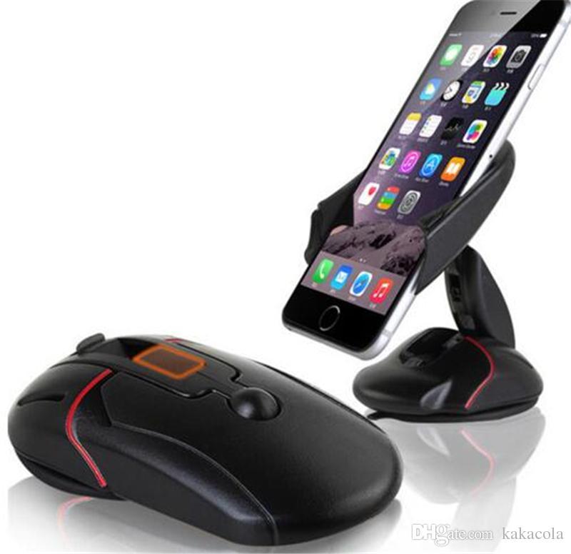 Para iphone7 plus telefone titulares mouse car mount universal 360 brisa suporte de montagem de um toque mouse ventosa berço acessórios suporte