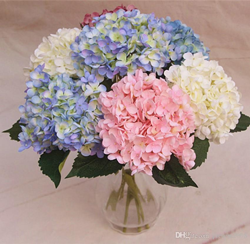 2020 Wholesale Simulation Hydrangea Hydrangeas Simulation Silk