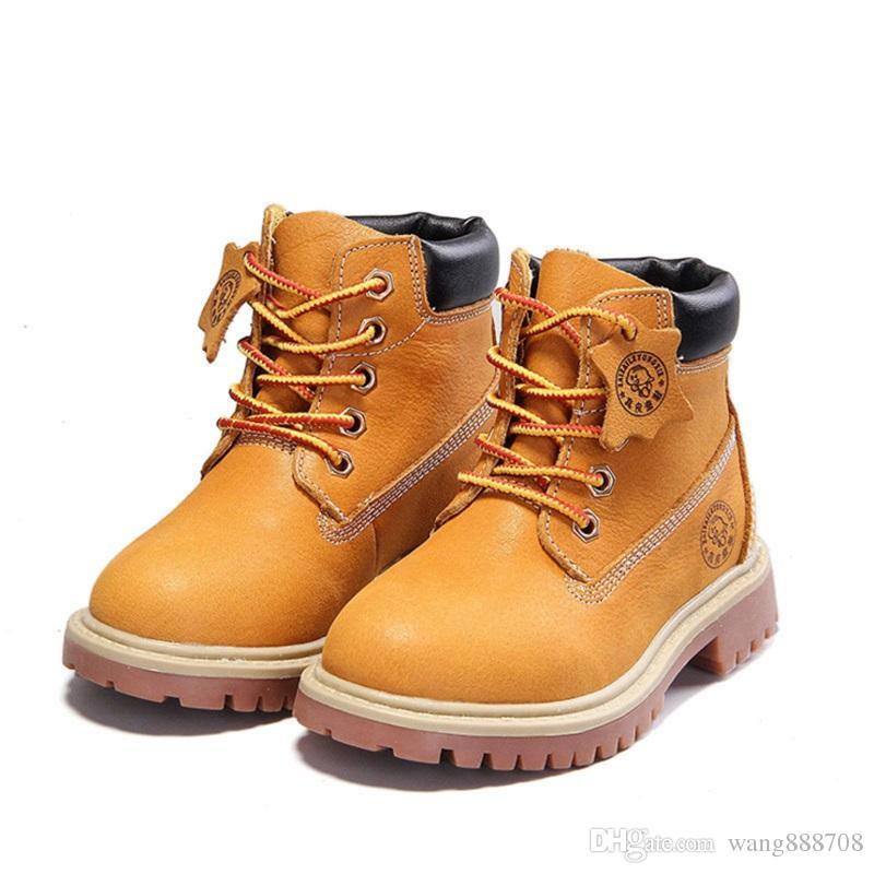 2017 New Autumn Winter Children Shoes Boys Girls Martin Boots Winter  England Retro Martin Kids Keep Warm Boots Toddler Boots 21 37 Size 4 Girls  Boots