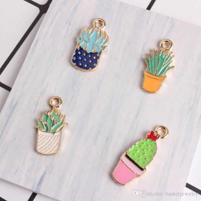 NEW My Very Best Succulent Cactus Plant Necklace gold plated brass SHIPS FREE