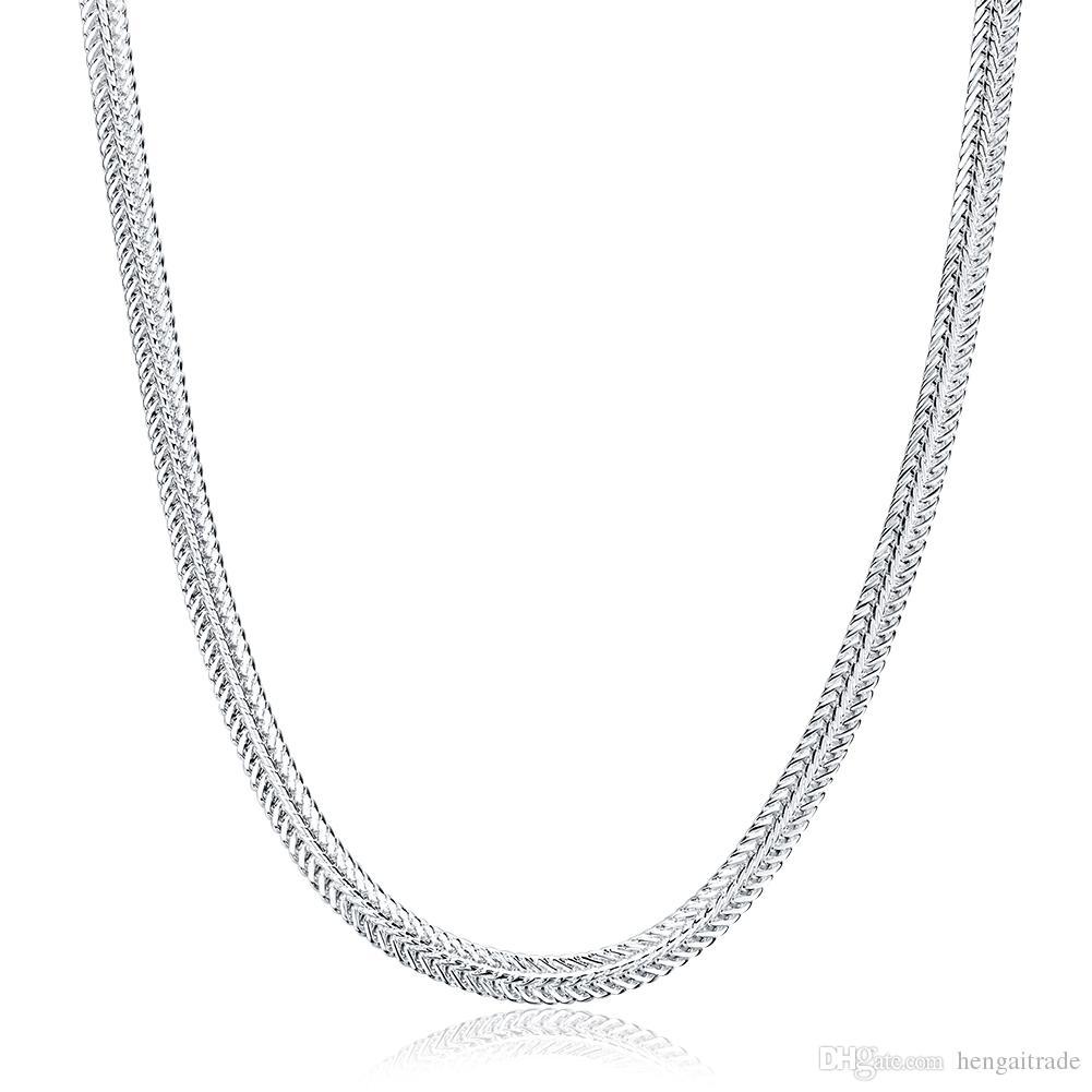 10 PCS / lot Livraison gratuite plaqué argent unisexe lien collier bijoux LKNSPCN881