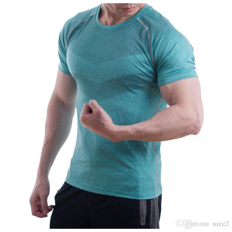 남성 편안한 통기성 꽉 피팅 스포츠 셔츠