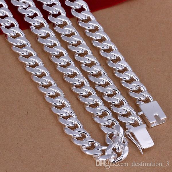 """Оптовая продажа-мужская 24"""" 60 см 10 мм стерлингового серебра 925 ожерелье 115 г твердые змея цепи n011 подарок мешки бесплатная доставка"""