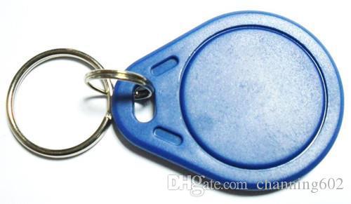 Meilleur meilleur prix usine faire de haute qualité TK4100 125khz 100pcs / lot ISO11785 ABS RFID personnalisé gravé clés Porte-clés