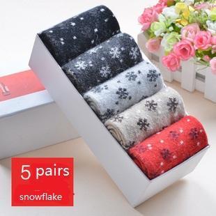 Wholesale- New 2015 Christmas wool socks women thermal winter wool socks female thickening towel 100% cotton socks gift sock