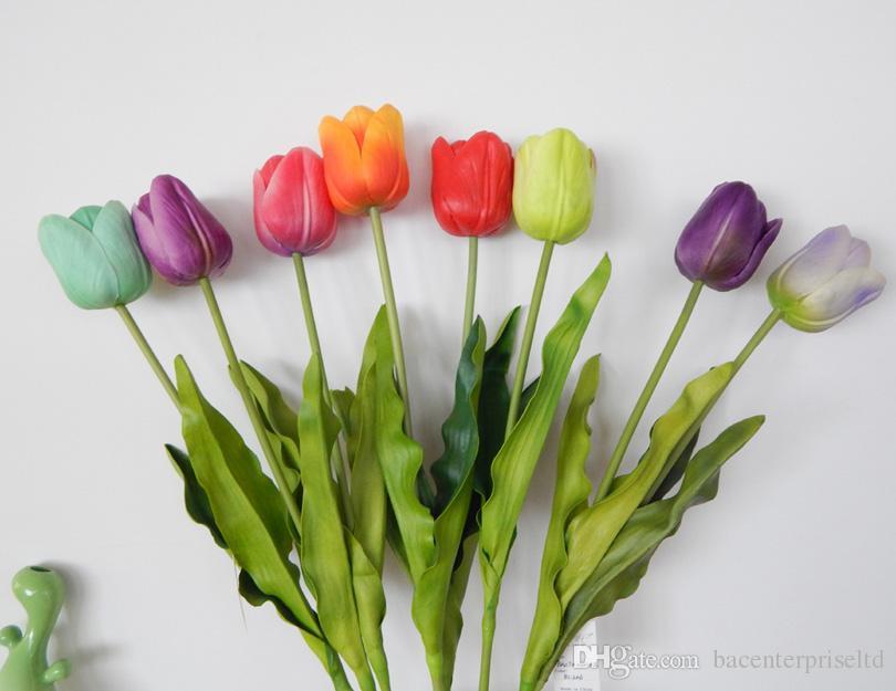 26-дюймовые большие тюльпаны из натурального латекса с искусственным тюльпаном для весенних аранжировок, букетов и центральных украшений (12 шт.)