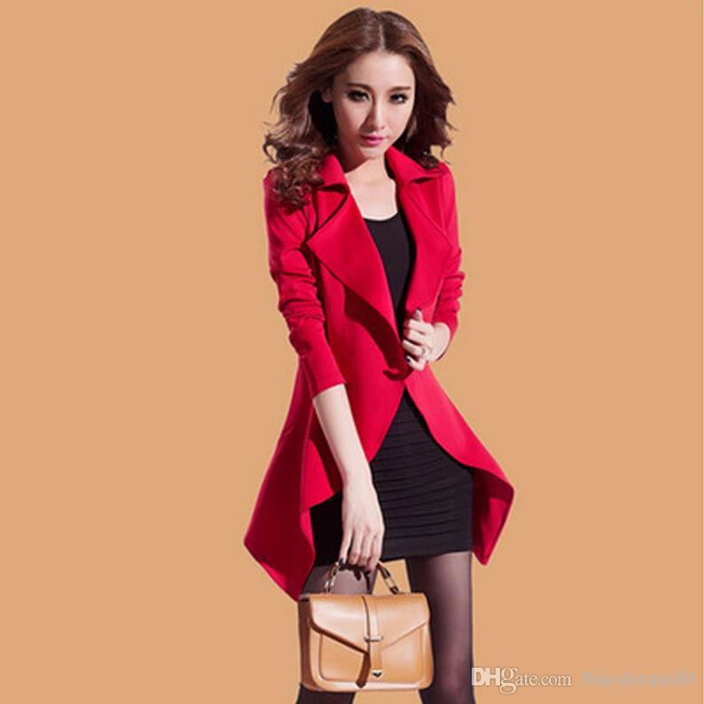 Dwa kawałki Kobiety Kurtki Płaszcz Sexy Czarna Suknia Jesień Plus Rozmiar Koreańska Kobieta Moda Kurtka Szczupła Dorywczo Kostium Długie Rękaw Odzież Dla Kobiet