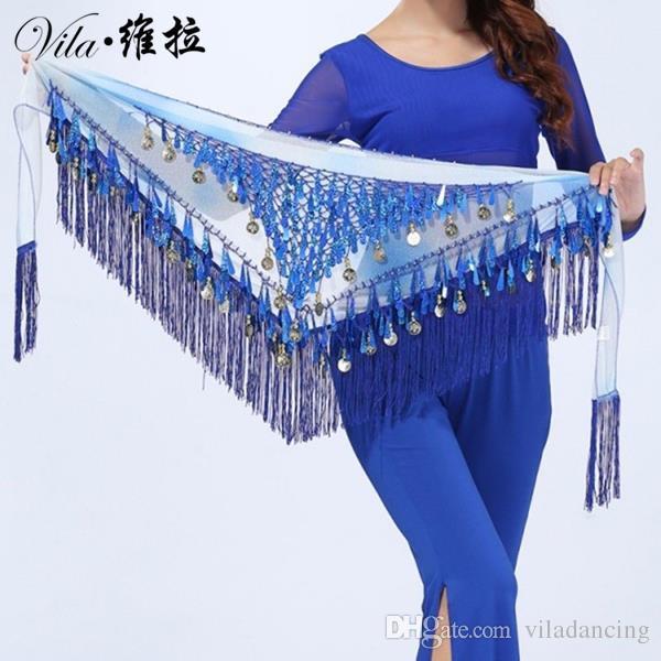 2016 Newest Style coins belly dance waist chain indian dance hip scarf bellydance belt for women & dancers