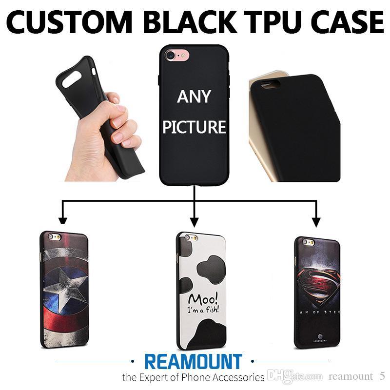 Großhandel 3D Relief UV Druck Telefon Fall DIY Benutzerdefinierte Bunte Abdeckung für Samsung Note 7 Anmerkung 5 Schwarz Telefon Abdeckung