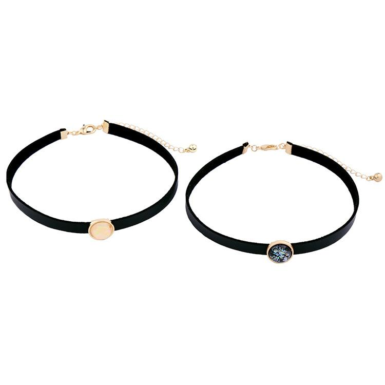 Fashion gem choker statement necklaces kendra artificial gemstone pendant nature stone necklace chokers for ladies xl02124