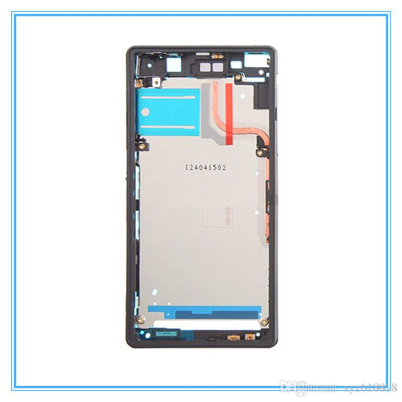 Black LCD Front Housing Frame Bezel Plate For Sony Xperia Z2 L50W D6503 Front Middle Chassis Housing frame