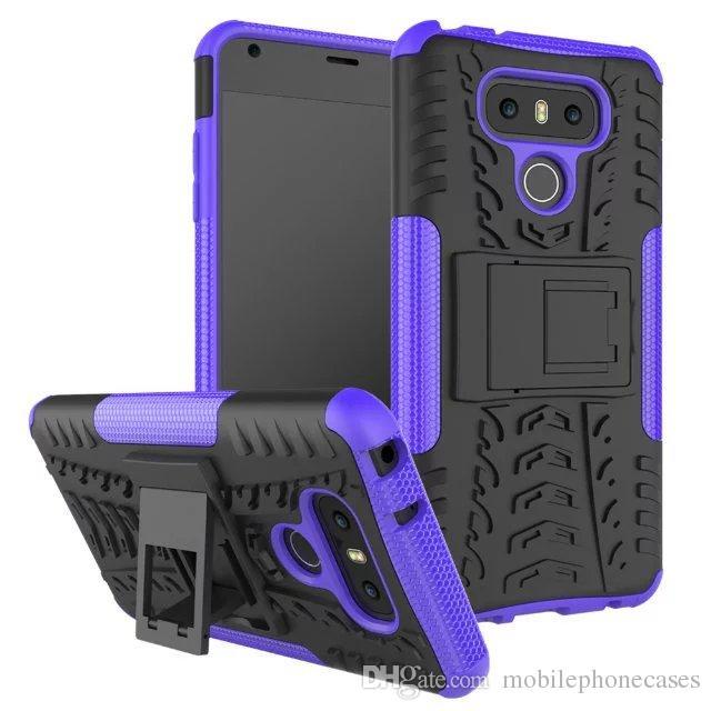 10PC neue Handy Rüstung Fall für LG G6 TPU + PC Dual Layer Neo Hybrid stoßfest Heavyduty Halter Abdeckung für LG G6 Fall