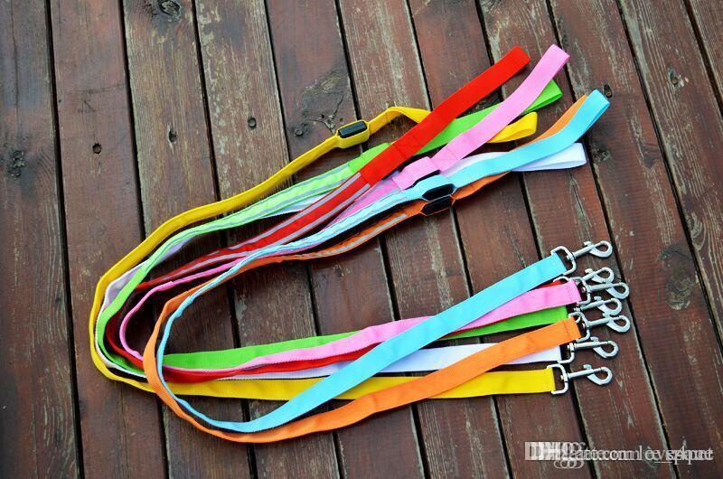 D41 pet köpek Tasmalar / w led ışık köpek Çekme kayışı pet köpek İpli pet Leads