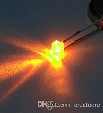 1000шт 1.8mm желтый LED Ultra Bright прозрачный для индикатора