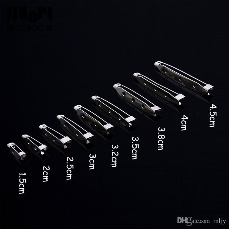 MLJY 9 크기 실버 도금 철 브 로치 기본 브로치 핀 DIY 쥬얼리 결과 액세서리 브로치 백 안전 잡아 막대 핀 쥬얼리