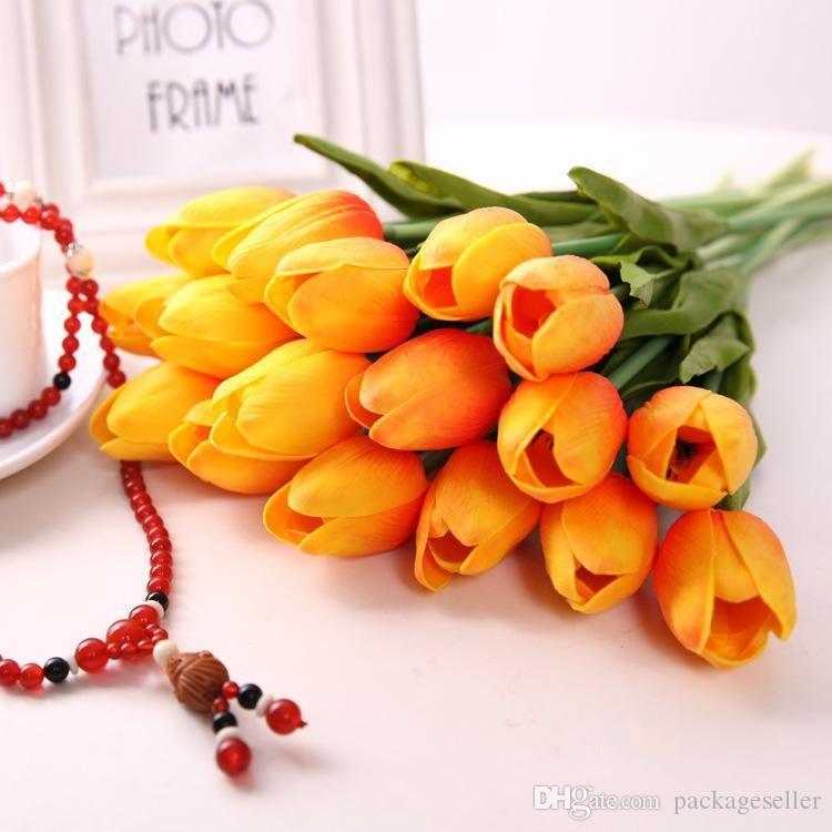 الاصطناعي الزنبق 34 سنتيمتر pu ريال اللمس الاصطناعي باقة زهور للمنزل الديكور الزفاف الديكور الزهور الأبيض الأحمر الأصفر الوردي الأرجواني