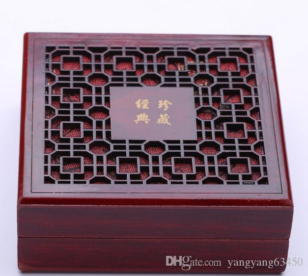 Hot Sell Classic Wooden Carved Jewelry Box Pearl Necklace Packing Box 153