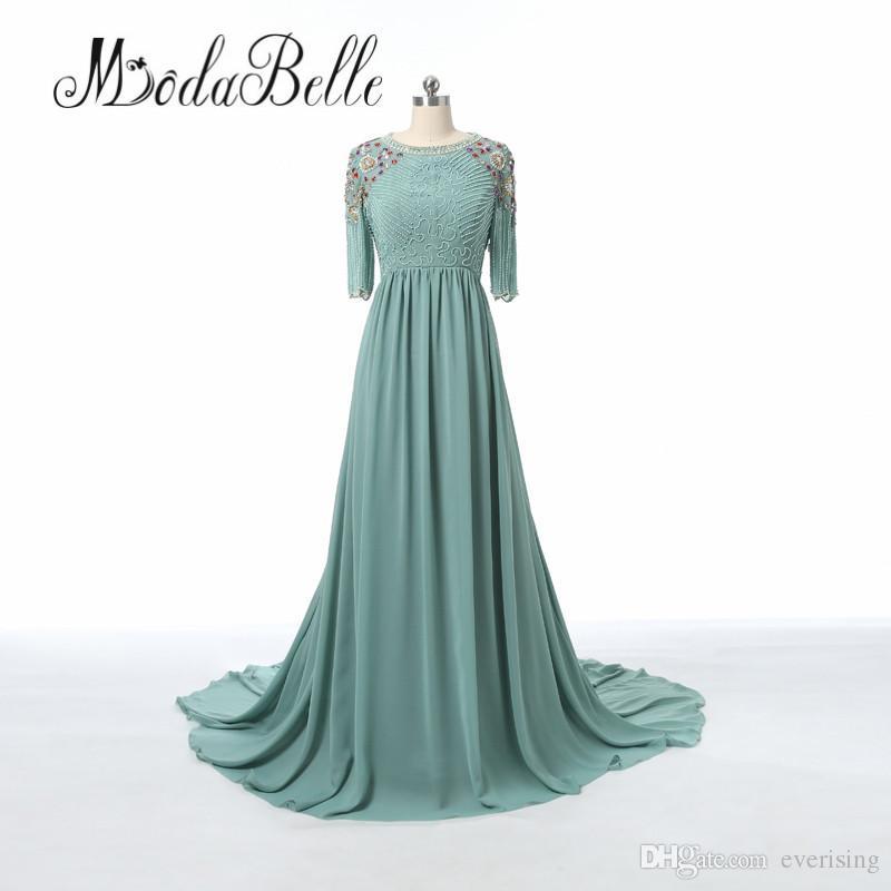 Modabelle Elegant Plus Size Long Prom Dress Formal Mother Of The Bride  Dubai Kaftan Beaded Crystals Evening Dresses Multi Colored Prom Dresses Old  ...