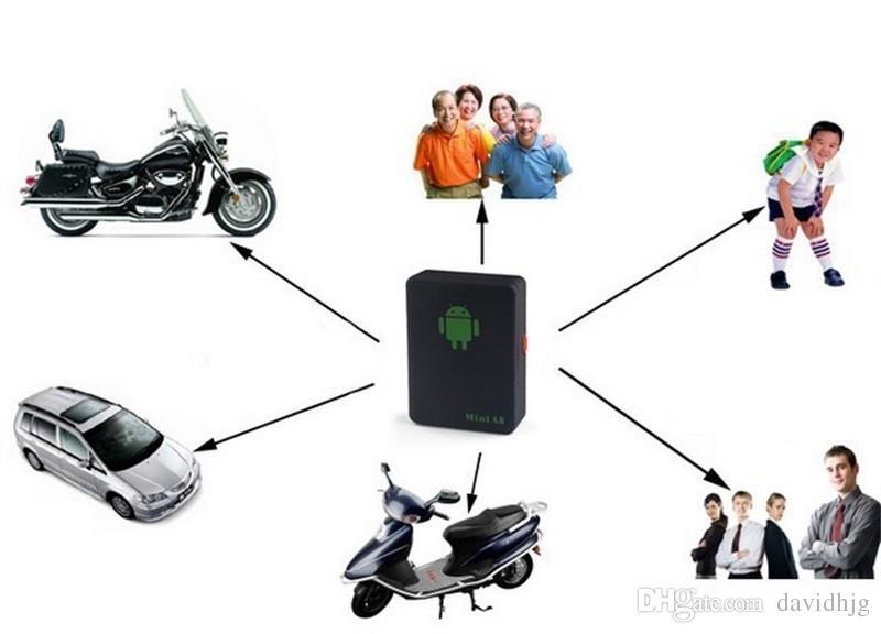 Mini A8 GPRS Tracker Protable GSM / GPRS Pozisyoner Tracker Yaşlı Evcil Rastreador Veicula Için Yer Izleme Adaptörü Bulucu