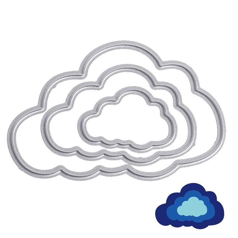 3x الغيوم المعادن قطع يموت استنسل diy سكرابوكينغ ورقة بطاقة النقش الحرفية هدية