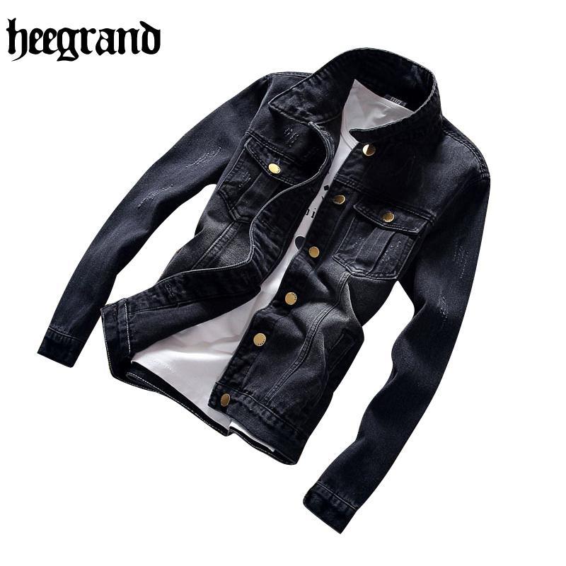 الجملة-هيي الكبرى عارضة الدينيم الستر معطف أبلى الشتاء الجينز سترة الرجال الذكور معطف زائد الحجم S-5XL MWJ2228