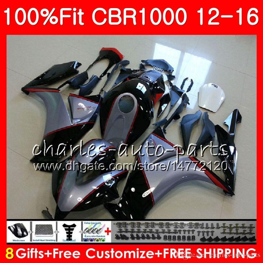 Injection Body For HONDA CBR 1000 RR CBR1000RR 12 13 14 15 16 Silver grey 88NO18 CBR 1000RR CBR1000 RR 2012 2013 2014 2015 2016 Fairing kit