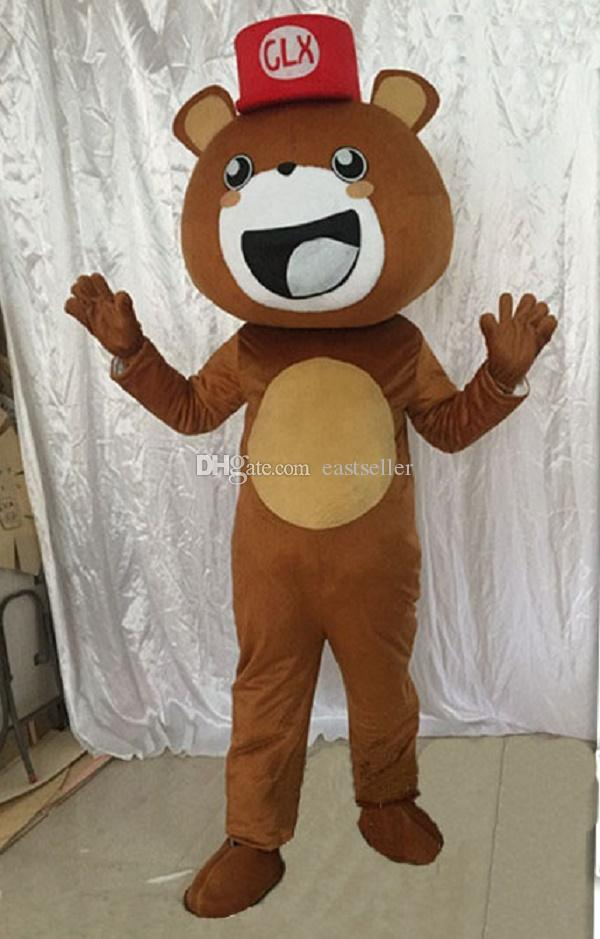 Brown bear propose cartoon dolls mascot costumes props costumes Halloween free shipping