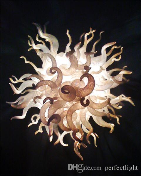 Élégant lustre en verre blanc Prismes Mini Chambre AC 110V-220V Lustre Lampe artistique pour la décoration haut de plafond