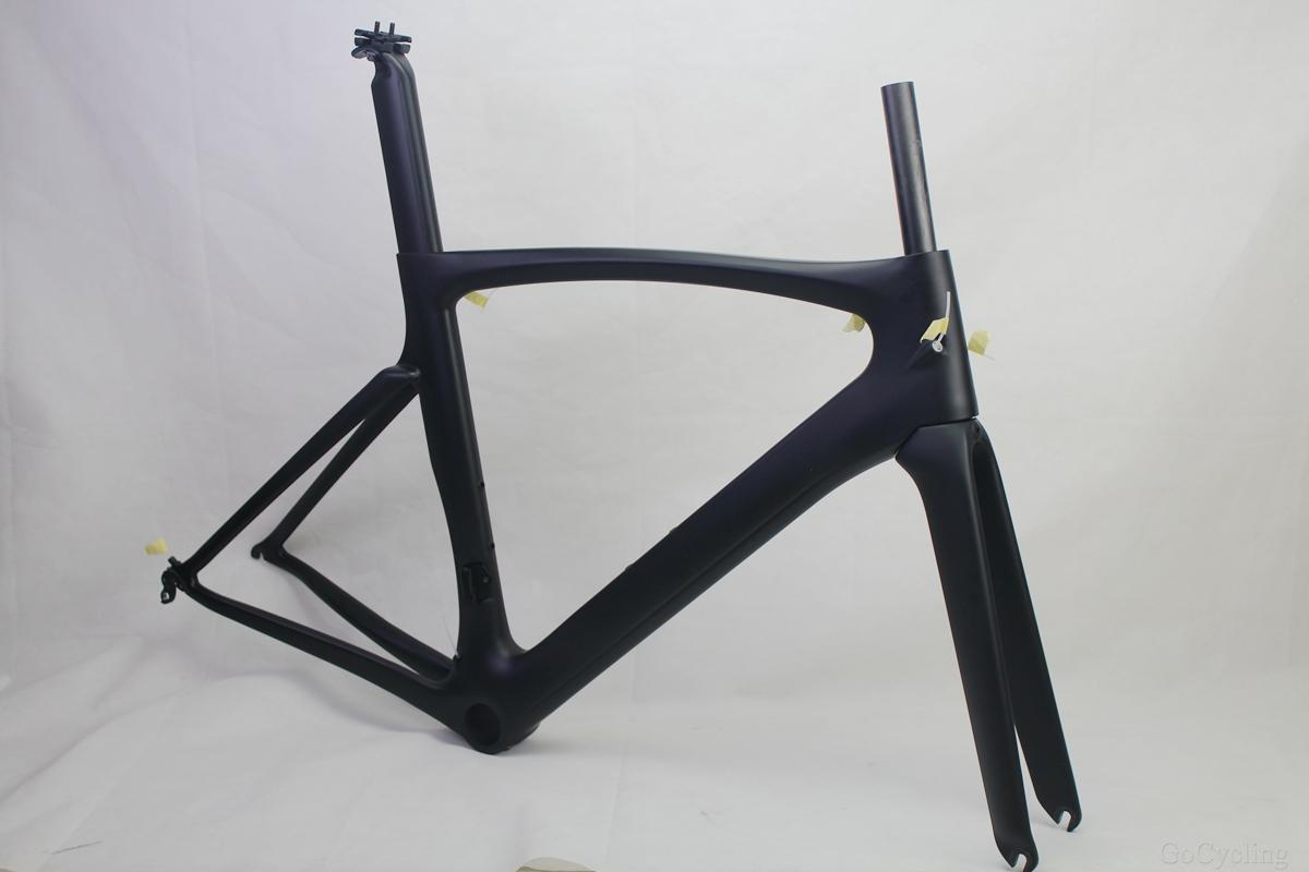 Carbon road bike frames Black matt racing bicycle frame cycling frameset No decals bike parts