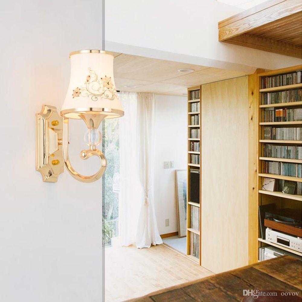 Acquista Lampada Da Parete In Vetro Soggiorno In Stile Europeo Lampada Da  Parete Camera Da Letto In Stile Moda A $65.33 Dal Oovov   DHgate.Com