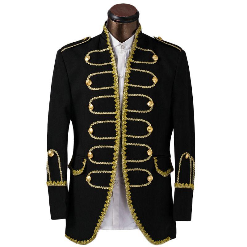 Wholesale- Luxury Costume Homme Mariage Tuxedo Jack 남성 정장 패션 골드 에지 남성 정장 신랑 웨딩 정장 브랜드 Prom 턱시도