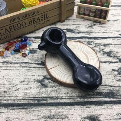 Mucchio di vetro per tubi a mano di colore nero di colore nero di buona qualità a buon mercato per fumare con lunghezza di 4 pollici