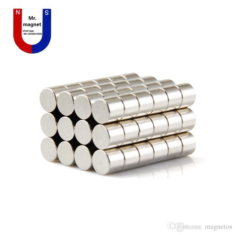 Wholesaler-50pcs 8x6 magnet 8*6mm NdFeB magnet D8x6mm rare earth magnet 8mm x 6mm 8x6mm neodymium magnets 8*6 free shipping