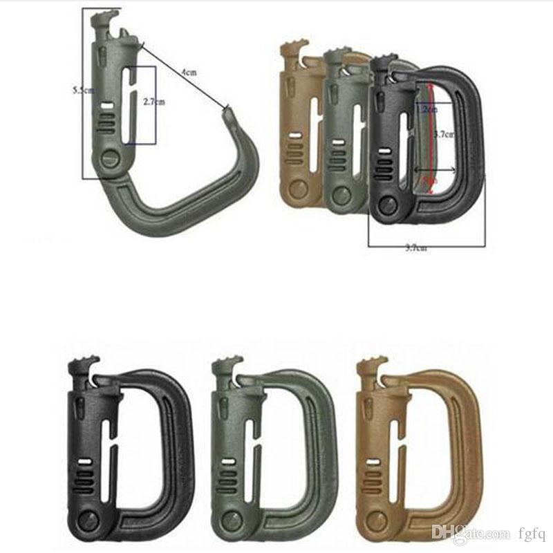 D type hanging buckle Hook Itw grimloc safety molle backpack Vest webbing