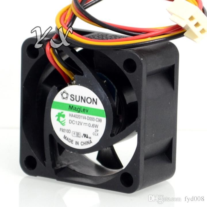 for SUNON HA40201V4-D000-C99 4020 Magnetic Suspension 12V 0.6W 4CM Cooling Fan