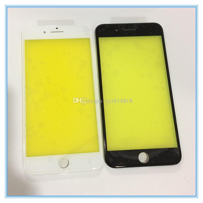 """Cool Press Front Screen esterno Obiettivo di vetro con cornice Bezel Assembly per iPhone 7 4.7 """"/ 7 Plus 5.5"""" Parti ricondizionate di ricambio"""