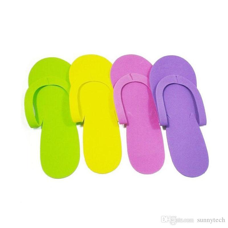 EVA Espuma Salon Spa Chinelo Chinelos Descartáveis Pedicure Thong Hotel Viagens Para Casa Convidado Beleza Chinelo Fechado Sapato De Dedo Do Pé Frete Grátis ZA1372