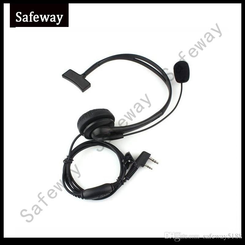 Two way radio headset with in line PPT push to talk for baofeng uv-5R 888S Quansheng Wouxun TYT