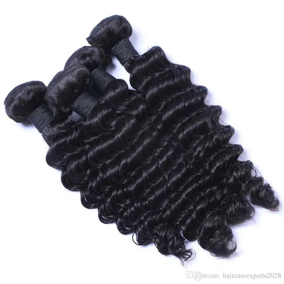 ELIBESS Cheveux -Virgin Armure de Cheveux Humains 60g Par Pièce 4 Bundles Par Lot Vague Profonde Extension de Cheveux Humains