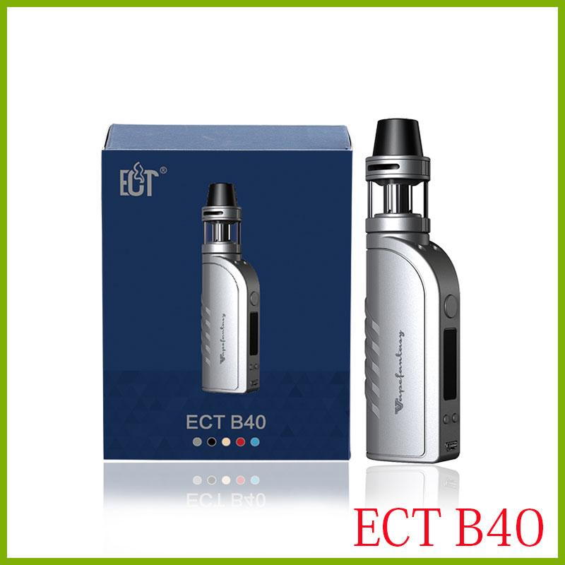 original ECT B40 Starter Kits TPD version 2200mah e cigarette 0.3ohm kenjoy met atomizer electronic cigarette box mod kit red black silver