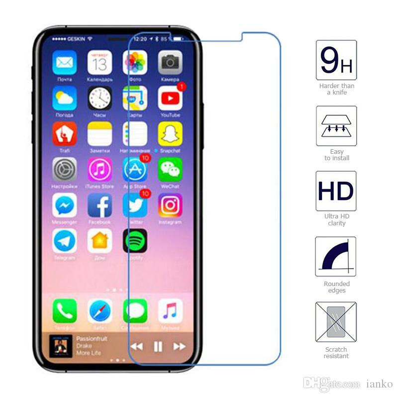 huge discount f56d9 972b6 High Quility Tempered Glass For IPhone Xs Max Screen Protector 0.26mm Extra  Thin 9H Protective Film For IPhone X Xr 8 7 6/Plus Retail Box Best Quality  ...