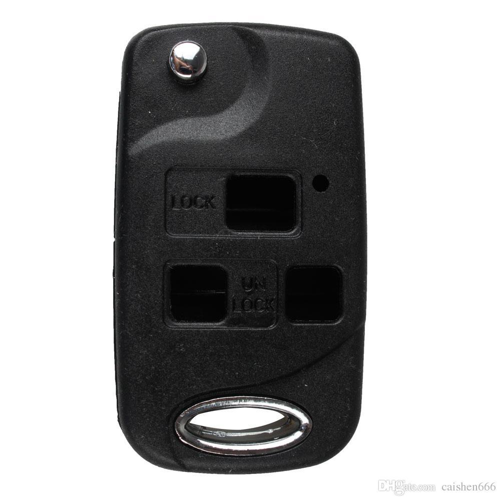 Per Lexus IS200/LS400/RX300/GS300/auto 3/pulsanti Remote flip chiave Caso Shell
