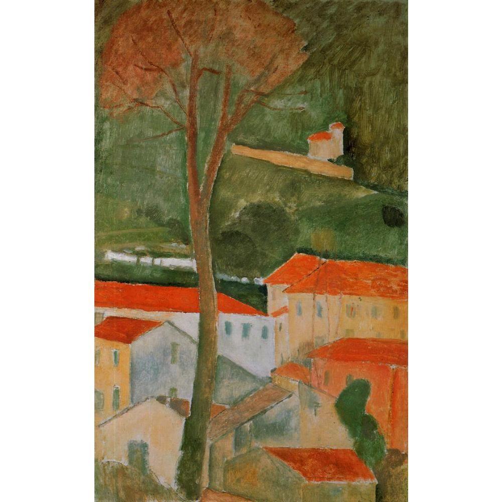 Art Gift peintures à l'huile de Amedeo Modigliani Paysage peint à la main art abstrait de haute qualité